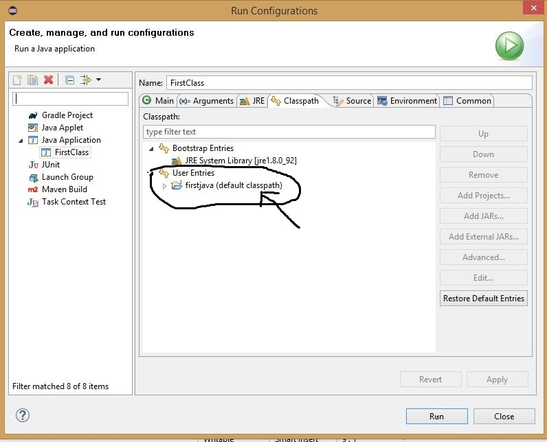 Error could not find or load main class in Eclipse 1
