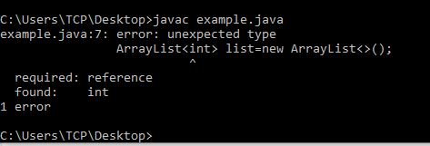 "Solve Error insert ""Dimensions"" to complete ReferenceType in Java"